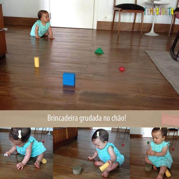 Brincadeira para estimular o seu bebê a engatinhar