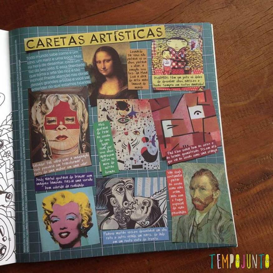 materia da revista Yoyo sobre caretas artísticas