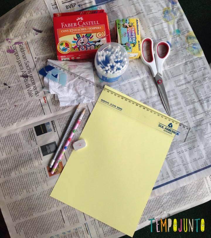 material para os marcadores de livros