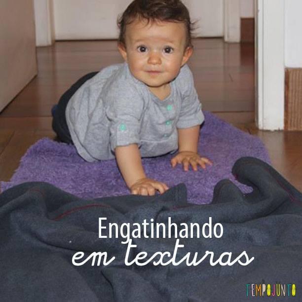 Como incentivar o bebê a engatinhar: use texturas!