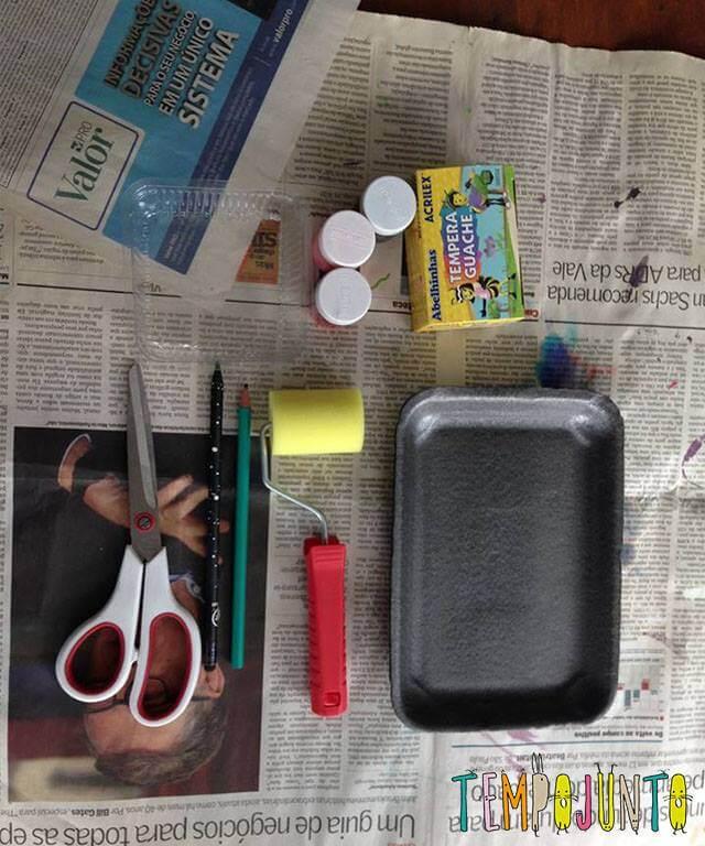 materiais para a arte com decalque