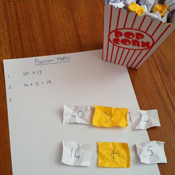 Pipoca como brincar de maneira criativa - matematica