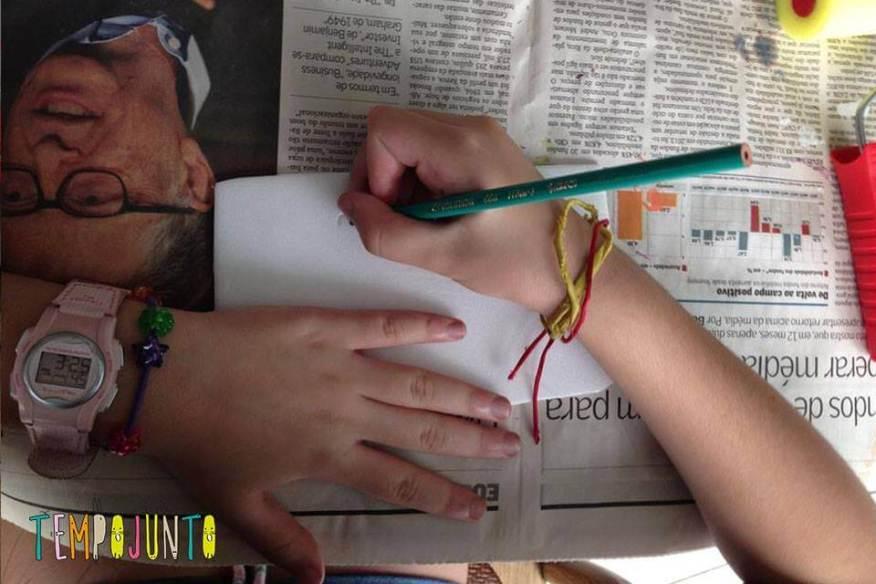Vamos usar o lapis para fazer o desenho no isopor