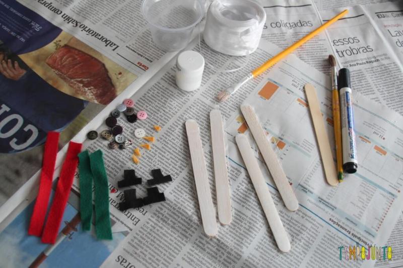 ideias de artesanato de natal para fazer em casa - boneco de neve sendo preparado