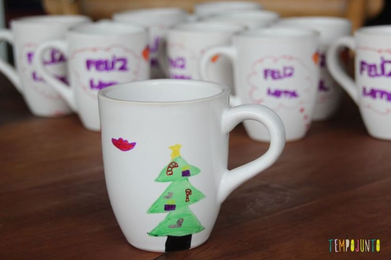 ideias de artesanato de natal para fazer em casa - caneca de Natal