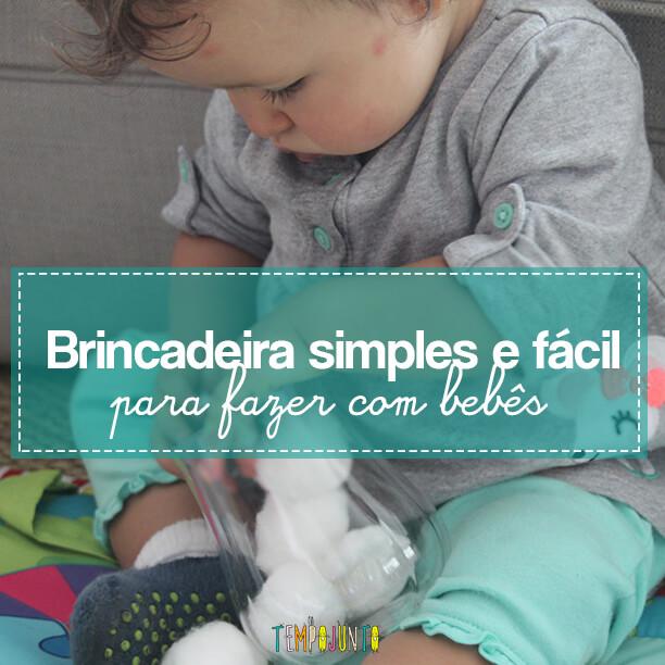 Brincadeira simples para bebês