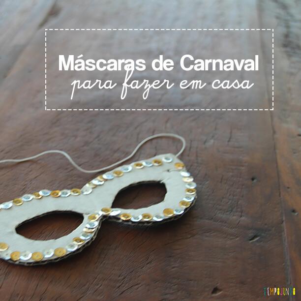Máscara de Carnaval para fazer em casa