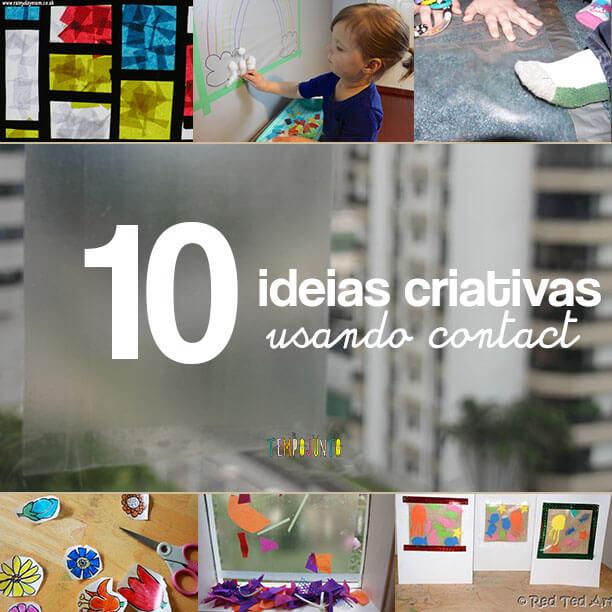 10 ideias criativas para brincar com papel contact