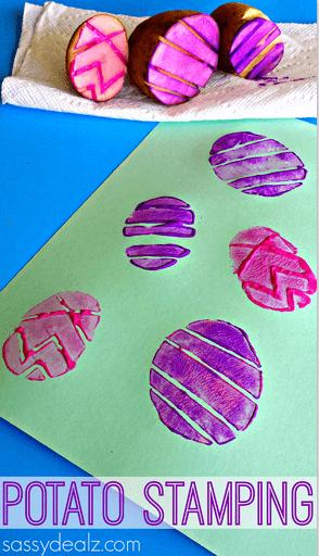 10 ideias criativas para fazer na Páscoa - estampa de batata