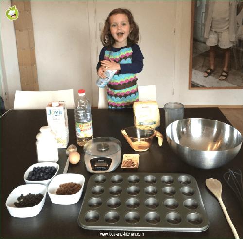 Receita com crianças: um panffin delicioso - ingredientes
