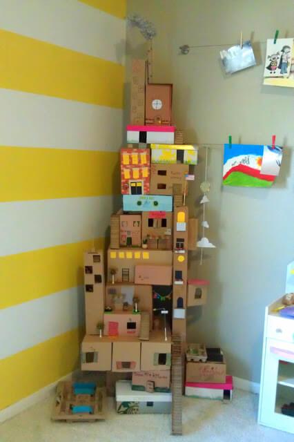 Castelo de caixas