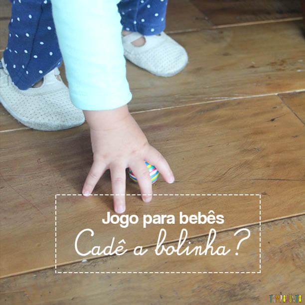 Jogo para bebês: cadê a bolinha?