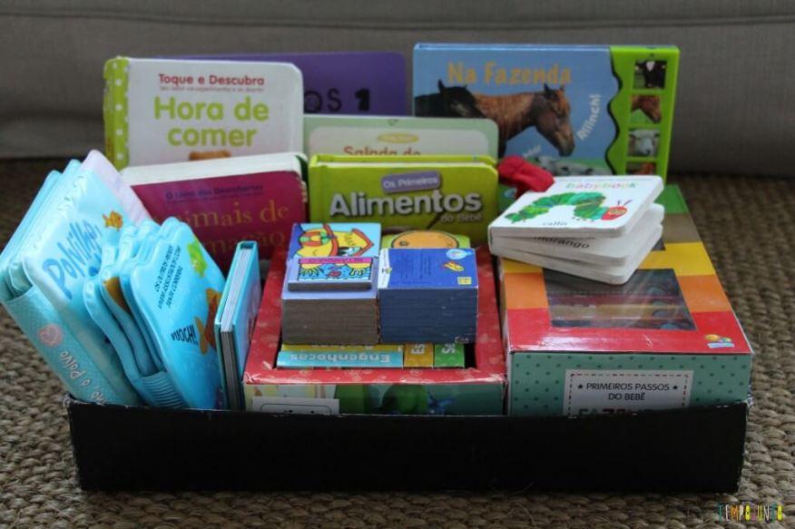 Leitura brincante para bebês - caixa de livros material