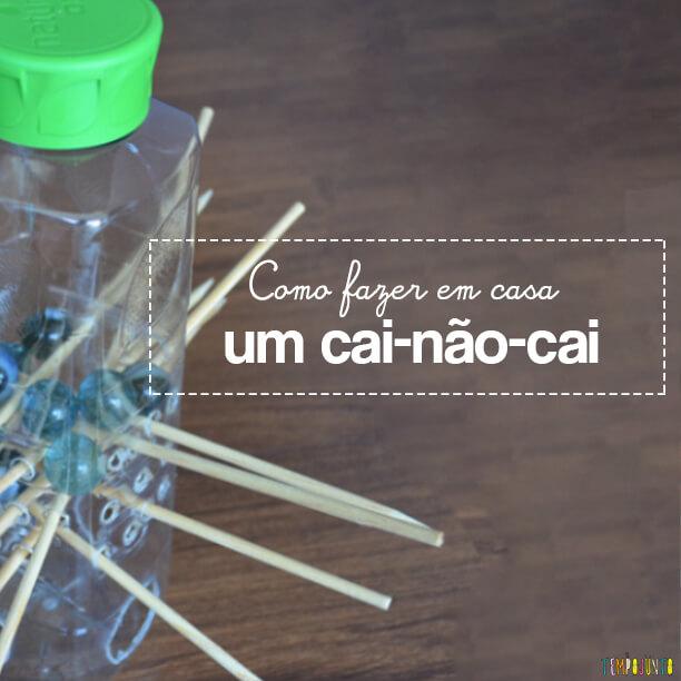 Como fazer um brinquedo Cai ou Não cai em casa