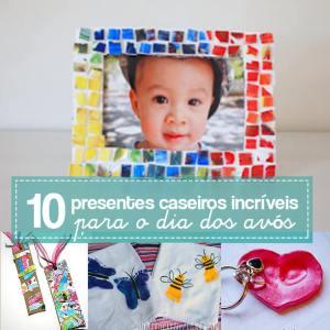 10 ideias de presentes caseiros para o Dia dos Avós