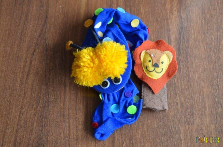 Baú das riquezas com brincadeiras especiais - fantoches