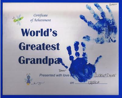 10 ideias criativas de cartão de Dia dos Avós feito pelas crianças - Certificado de melhor avó