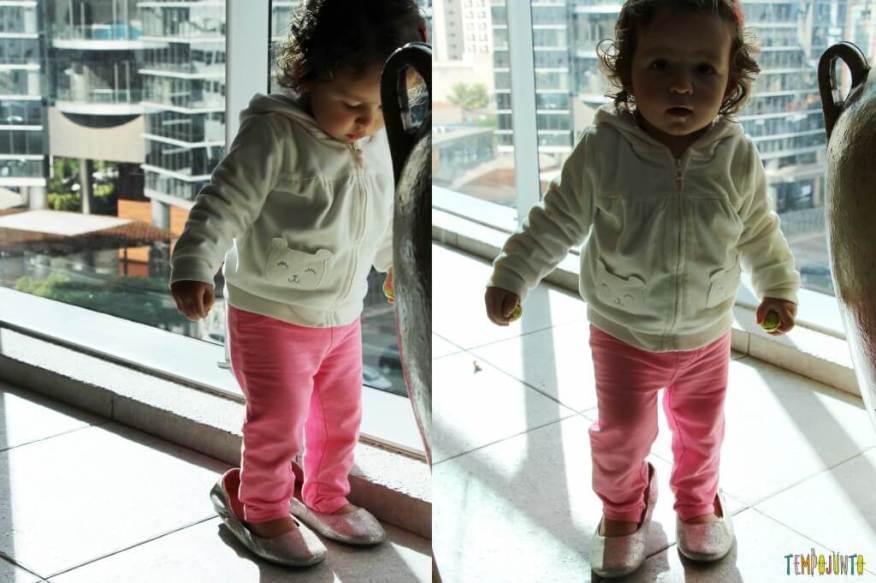 Estímulo para o bebê - encontre o par - Gabi com o sapato