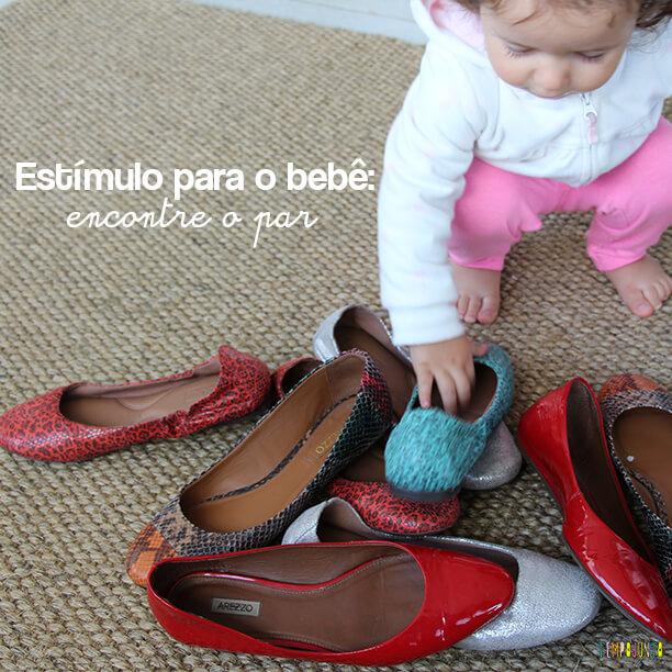 Estímulo para o bebê: encontre o par