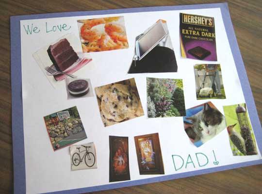 10 ideias criativas de cartão para o Dia dos Pais - colagem dos pais