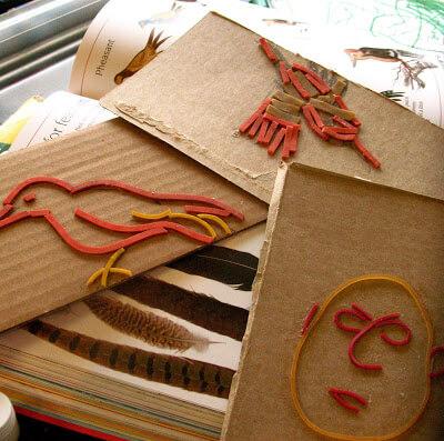 10 ideias criativas de pintura com carimbo - carimbo e elástico