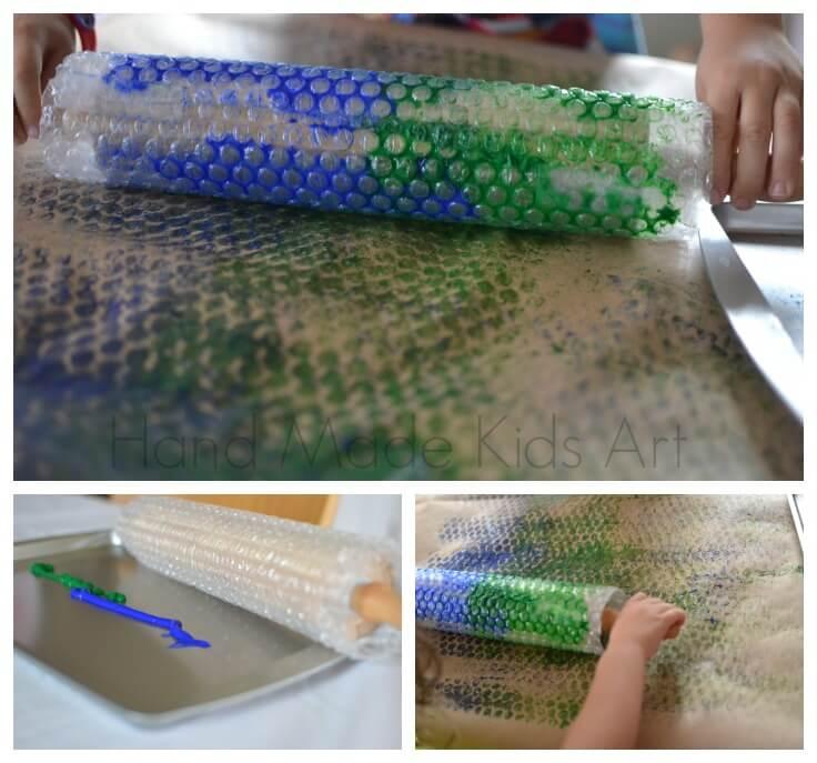 10 ideias criativas de pintura com carimbo - colagem