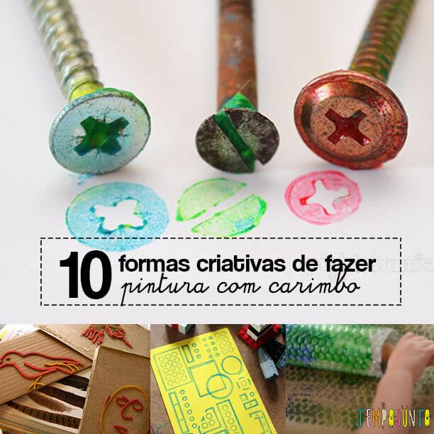 10 ideias criativas de pintura com carimbo