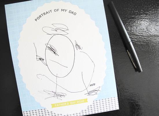 10 ideias de presentes caseiros para o Dia dos Pais - Retrato do meu pai