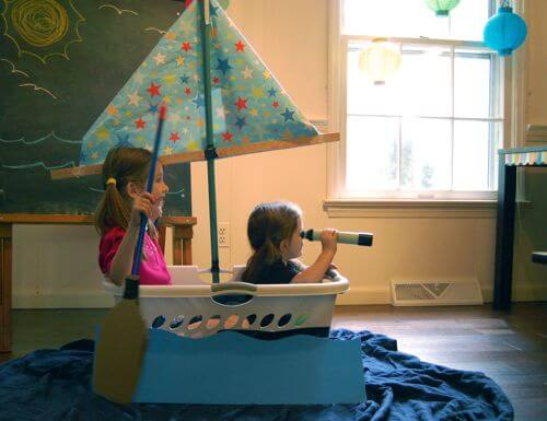 10 ideias para estimular a brincadeira de faz de conta - barco