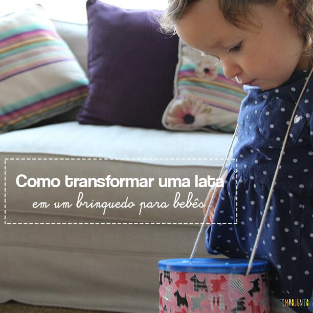 Como fazer um brinquedo para bebês com uma lata