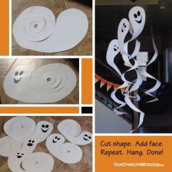 10 ideias criativas para o Halloween - fantasma de espiral