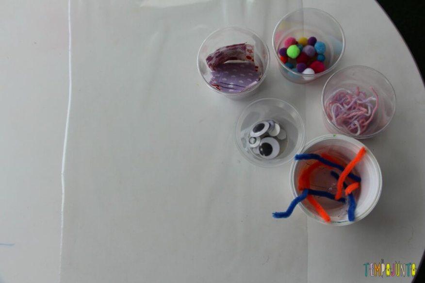 Arte para crianças pequenas - colagem no contact - cantinho