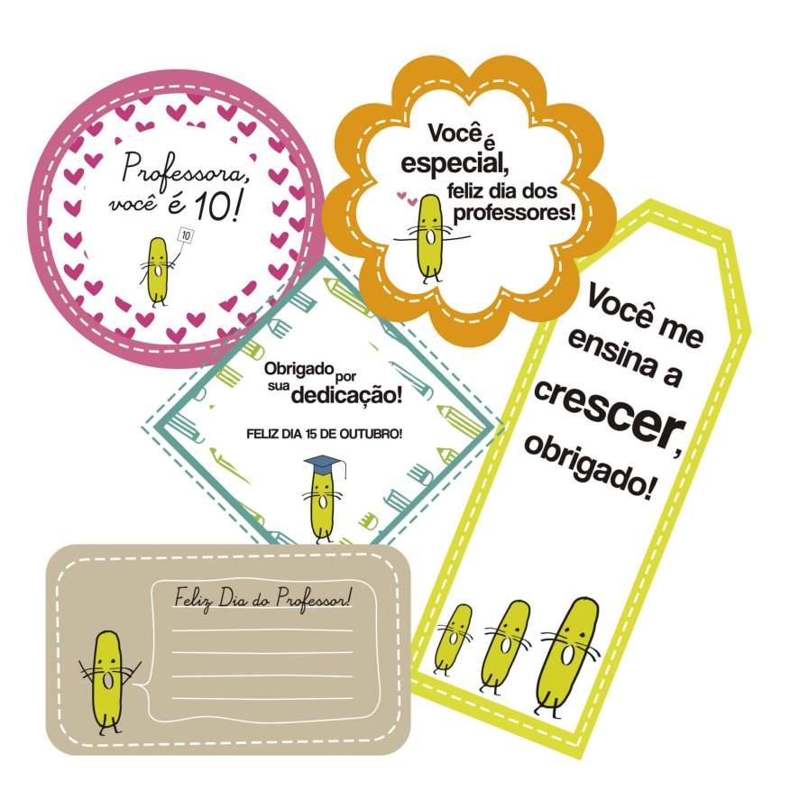 Imagem da tag de lembrancinha simples para o dia dos professores