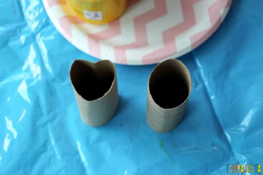 Atividade de artes para crianças pequenas - rolo de papel