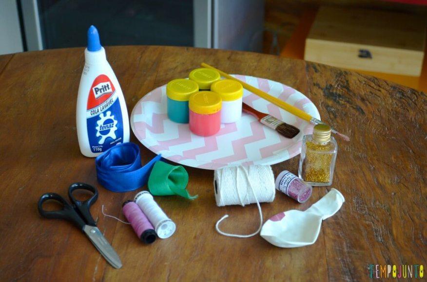 Lembrança de Natal para fazer com as crianças - materiais