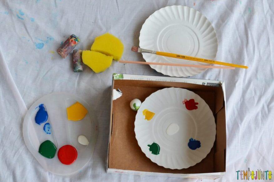 Lembrança de Natal para fazer com as crianças - material para varios tipos de pintura