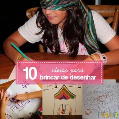 10 maneiras de brincar de desenhar