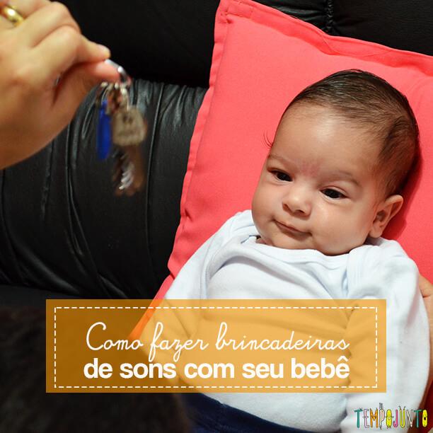 Brincadeiras de sons com bebês recém-nascidos