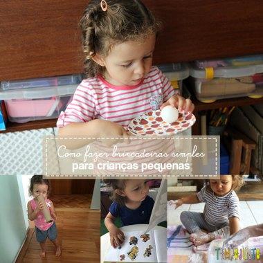 3 brincadeiras simples para crianças pequenas