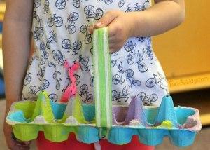 20 ideias para se divertir na Páscoa - cesta de caixa de ovo