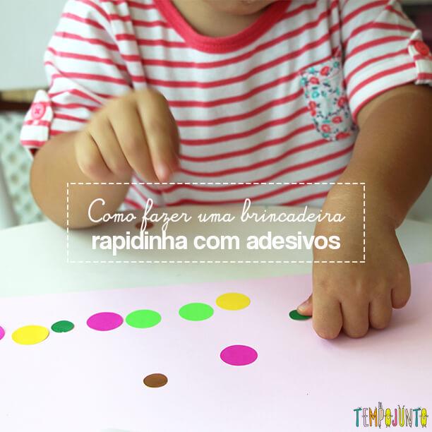 Atividade com adesivos para estimular os pequenos