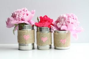 10 ideias de presentes para fazer em casa para as mães - vaso de lata com juta