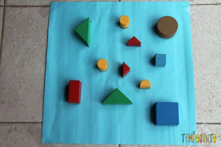 Como fazer um jogo de encaixe para as crianças - brincadeira preparada
