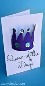 17 ideias criativas para o Dia das Mães - cartao coroa de rainha