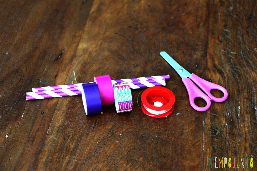 Faça você mesmo- pulseira de canudo - materiais