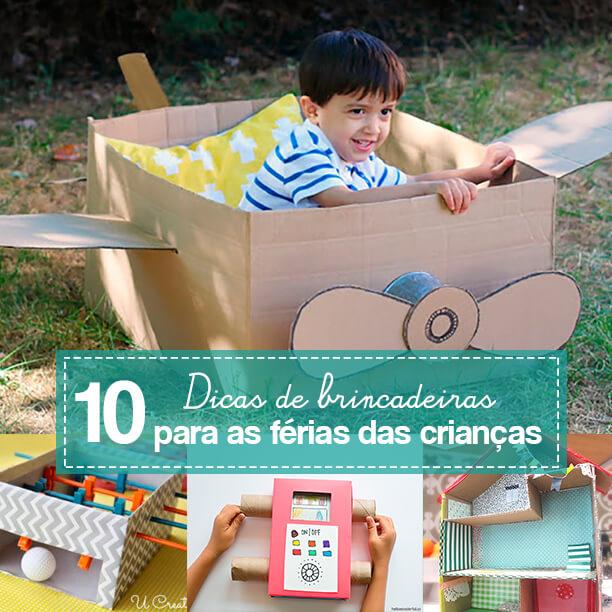 10 ideias de atividades para fazer nas férias das crianças
