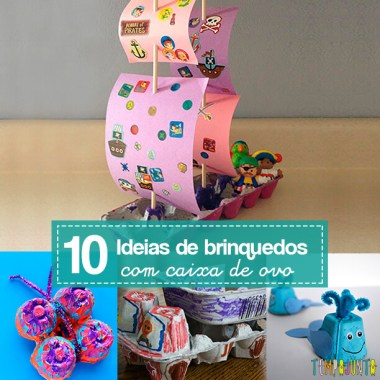 10 ideias de brinquedos caseiros com caixa de ovo
