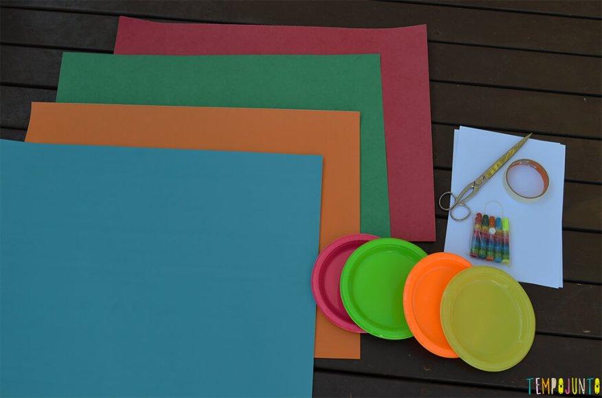 Faça em casa o jogo do Twister - materiais