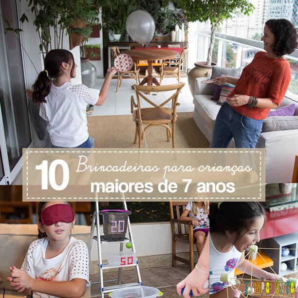 10 brincadeiras para crianças maiores de 7 anos