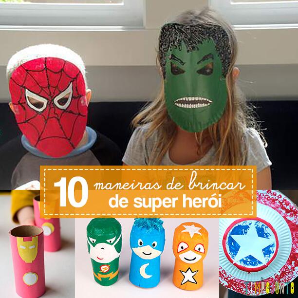 10 maneiras de brincar de super heroi - capa
